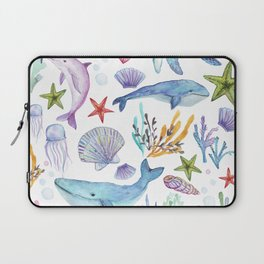under the sea watercolor Laptop Sleeve