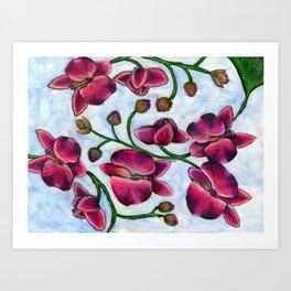 Jubilant Orchid Art Print