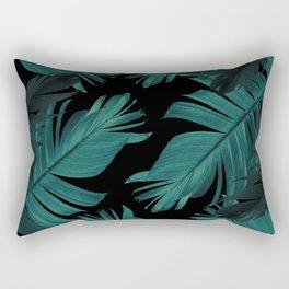 Tropical Banana Night Leaves Pattern #1 #tropical #decor #art #society6 Rectangular Pillow