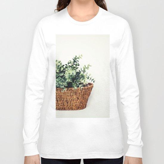 Plant On White Long Sleeve T-shirt