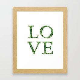love quote. Framed Art Print