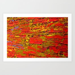 Up Close & Personal with Red Townscape II, #1 Art Print