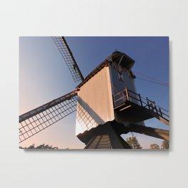 1745 Windmill sundown Metal Print