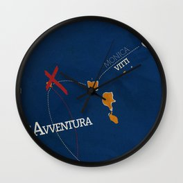 L'avventura, Monica Vitti, Michelangelo Antonioni, italian cinema, film, sea adventures, hollywood Wall Clock