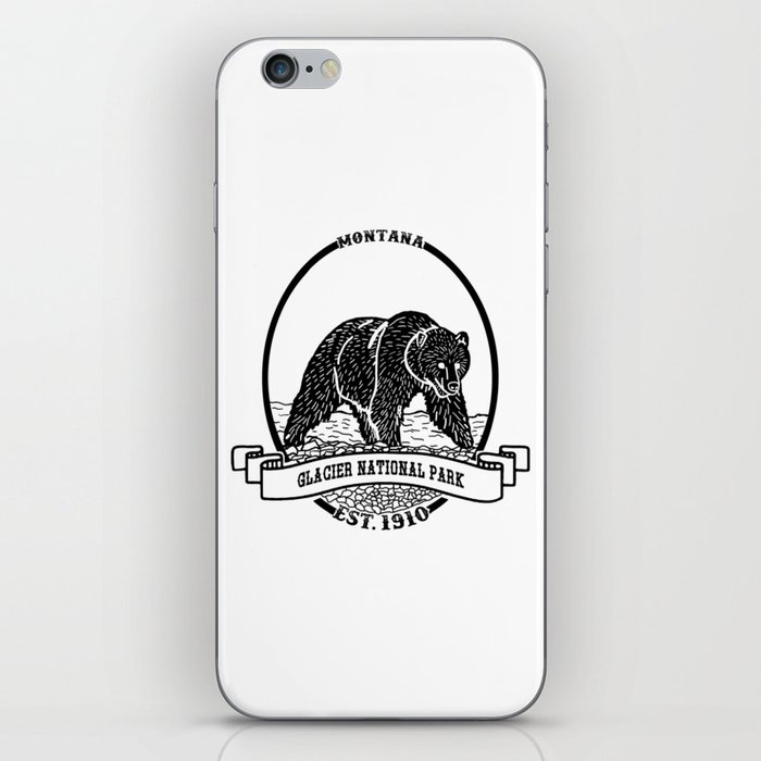 Glacier National Park Emblem iPhone Skin