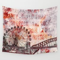 sydney Wall Tapestries featuring Sydney Luna Park by LebensART