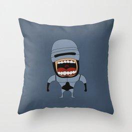 Screaming Robocop Throw Pillow