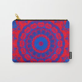 Vibrant Blue Red Mandala Carry-All Pouch
