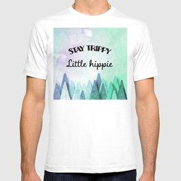 Stay trippy little hippie watercolor T-shirt
