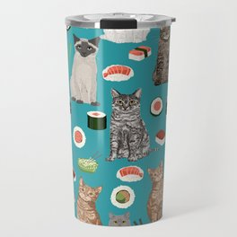 Cat breeds pure bred cats sushi kawaii pet gifts cat person must haves Travel Mug