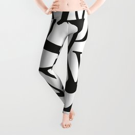 Typographic design - You better think - black on white edition Leggings