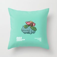 003 Venusaur Throw Pillow