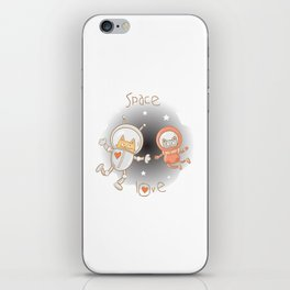 Space love iPhone Skin
