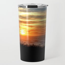 SUNSET OVER THE PACIFIC OCEAN - OREGON COAST Travel Mug
