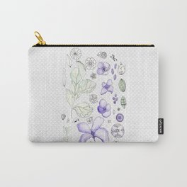 Violet Watercolor Carry-All Pouch