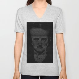 Mr. Poe Typographic Portrait Unisex V-Neck