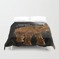 doom Duvet Covers featuring Elephant Doom by Fantelius/Dartwill