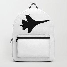 F16 Flying Jet Silhouette Backpack