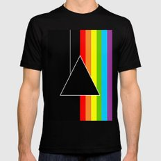 Tribute Pink Floyd | Dark Side Of The Moon X-LARGE Black Mens Fitted Tee