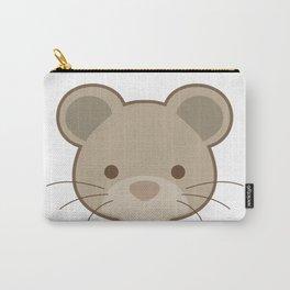 Cute mouse portrait cartoon Carry-All Pouch