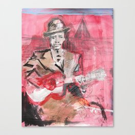 Robert Johnson American Blues Musician Canvas Print