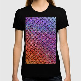 Colorful Glitter Mermaid Scales I T-shirt