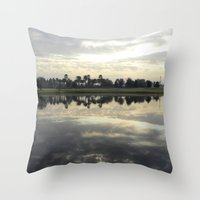 florida Throw Pillows featuring Florida Sunrise by Stephanie Stonato