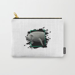 Manatee In Art Carry-All Pouch