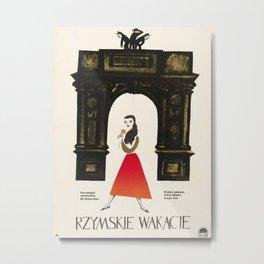 Polish Film Poster-Roman Holiday 1953. Metal Print
