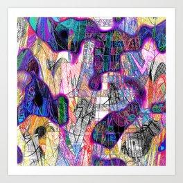 Heavily Overdrawn Art Print