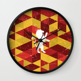 Gryffindor House Pattern Wall Clock