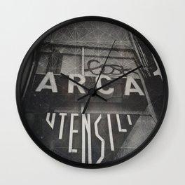 Bologna B&W Street Photography Vintage Shop Sign Wall Clock
