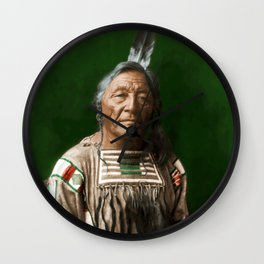 Sitting Elk - Crow Indian Wall Clock