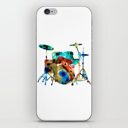 The Drums - Music Art By Sharon Cummings iPhone Skin