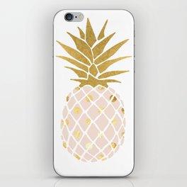 pink & gold pineapple iPhone Skin