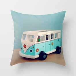 Toy Hippie Van Throw Pillow