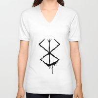 berserk V-neck T-shirts featuring The Berserk Addiction by DesignDinamique