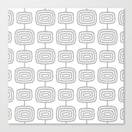 Mid Century Modern Atomic Rings Pattern Gray 3 Canvas Print