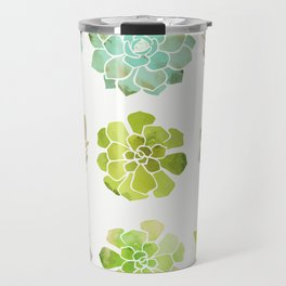 Spring Succulents Travel Mug
