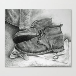 Work Shoes Canvas Print