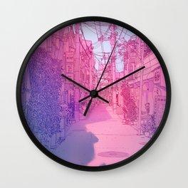 Naha Red Light Disctrict Wall Clock