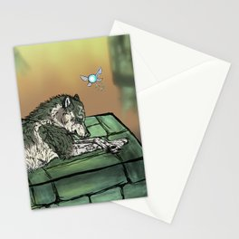 Wolf Link & Navi Stationery Cards