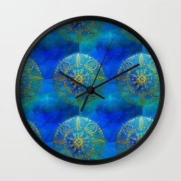 Turquoise and Mysterious Wall Clock