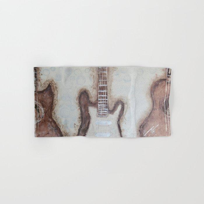 Brown Guitars  Hand & Bath Towel