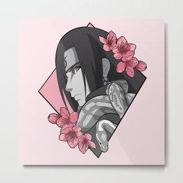 Snake Cherry Blossoms Metal Print
