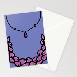 Purple necklace Stationery Cards