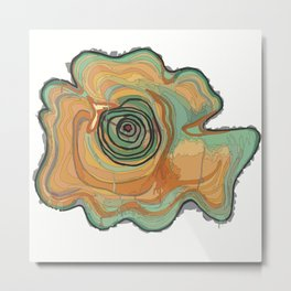 Tree Stump Series 3 - Illustration Metal Print
