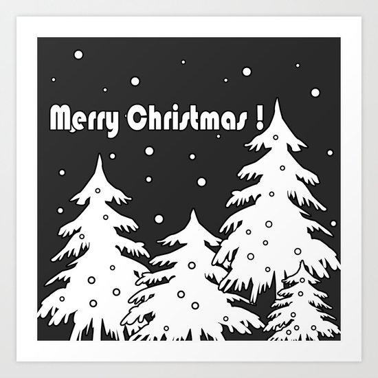 Merry Christmas ! Art Print