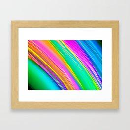 mint saturn Framed Art Print