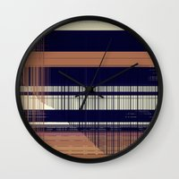 honeycomb Wall Clocks featuring HONEYCOMB by Mike Maike